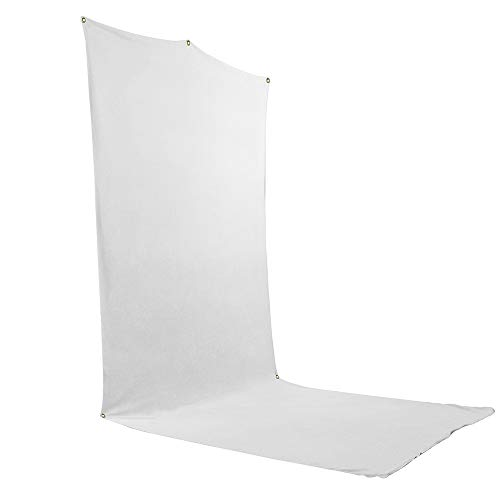Savage Travel Backdrop Kit - White Floor Extended Backdrop (5 ft x 12 ft) with -