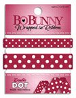 - Bo Bunny Double Dot Double-Sided Grosgrain Wrapped In Ribbon, Cranberry