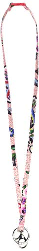Vera Bradley womens Iconic Breakaway Lanyard, Signature Cotton, Stitched Flowers, One -