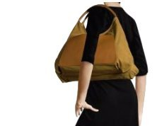 LUPO Arena Tierra Hobo Bag with Genuine Leather Trim, Mustard Yellow Ladies Shoulder Bag by LUPO Barcelona (Image #3)