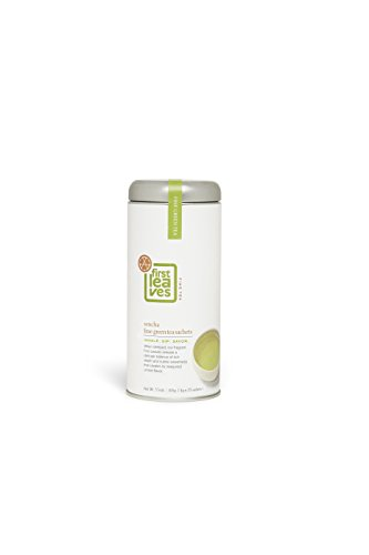 First Leaves Sencha Green Tea Sachets by Premium Japanese Gourmet Green Tea - First Flush Harvest - Comes in Ready to Gift Canister - Powerful Antioxidants and Natural Detox