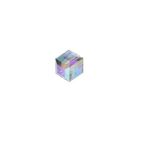 Swarovski Crystal Cube Beads 6mm - Black Diamond AB - 5 pcs - Article ()