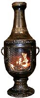 Outdoor Chimenea Fireplace - Venetian in Gold Accent Finish (Without Gas) by Blue Rooster