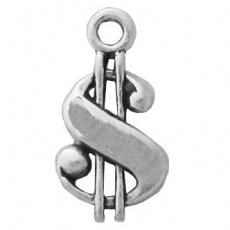Dollar Sign Charm .925 Sterling Silver Perfect for Custom Bracelets, Anklets, Necklaces, Pendants, Earrings, and (Xtreme Custom Green)