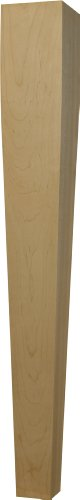 Tapered Dining Table Leg in Alder - Dimensions: 29 x 3 1/2 inches (Square Table Alder)