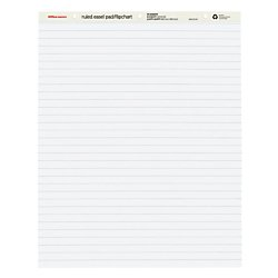 Office Depot(R) Brand Standard Easel Pads, 27in. x 34in, 30% Recycled, White, 50 Sheets, Pack Of 2 by Office Depot