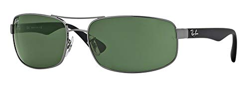 Ray-Ban RB3445 004 61M Gunmetal/Green Sunglasses For ()