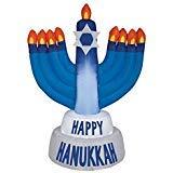Gemmy Industries Hanukkah Menorah Christmas Inflatable Plastic ()