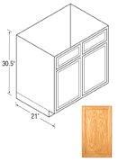 Chadwood Series Vanity Sink Cabinets Oak, Flat Panel Door by handyct