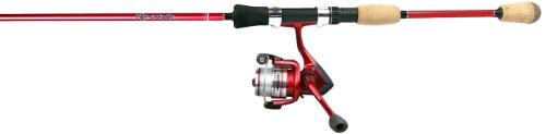 Okuma Fin Chaser - Okuma FN-662-25Rb Fin Chaser Medium Spinning Combo, Pre-Spooled, 6-Foot 6-Inch Length, Red Finish