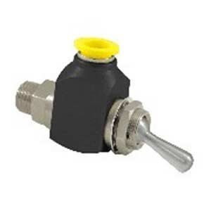 """Clippard CR-GTV-3-P12 Cr 3-Way Toggle Valve, 3/8"""" Push-Quick Fittings, Corrosion-Resistant Materials by Clippard"""