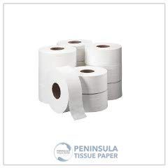 Industrial Toilet Paper | Jumbo Toilet Tissue | Pack of 12 Rolls | Softer Than Commonly Available Rolls | Balanced Strength, Absorbency and ()