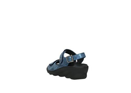 Nubuck 10800 Wolky Women's Sandal Scala Blue z6X0x6