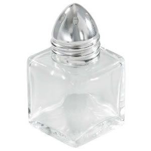 0.5 Ounce Square Glass (Winco G-300 .5-Oz Square Glass Shaker W/ Chrome Plated Top - Salt & Pepper Shakers-G-300)