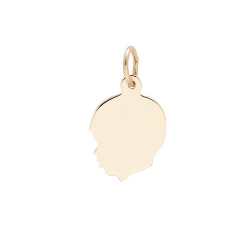 rembrandt-charms-small-boy-silhouette-10k-yellow-gold-engravable