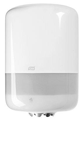 Tork 659008 Centrefeed Dispenser M2 Paper Dispenser Suitable for M2 Paper Rolls Centrefeed System Big//Wipe Dispenser Wall Mounted//Performance Design Black-Red