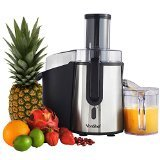VonShef Whole Fruit Juice Extractor Centrifugal Juicer Machine 700 Watt Max Power Motor with 2 Speed Settings, Juice Jug and Cleaning Brush, Stainless Steel, Professional, Powerful, Wide Mouth