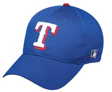 MLB ADULT Texas RANGERS Home Blue Hat Cap Adjustable Velcro TWILL