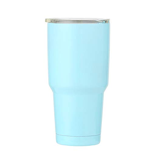 30 oz Tumbler Double Wall 18/8 Stainless Steel Insulated Water Coffee Cup with Lid Travel Mug For Home Office School Seafoam