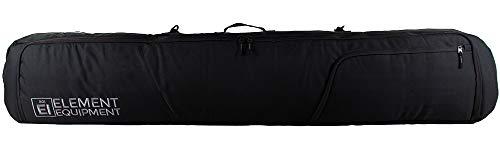 Element Equipment Tour Deluxe Padded Snowboard Bag - Premium High End Travel Bag 157 Black