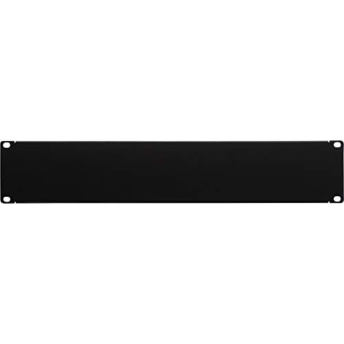 (NavePoint 2U Blank Rack Mount Panel Spacer for 19-Inch Server Network Rack Enclosure Or Cabinet Black)
