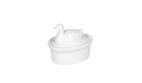 Blanc la Porcellana Terrine Beurrier Bo/îte Cadeau 14/x 11/cm