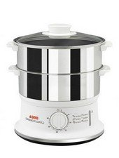 TEFAL 2-Tier Stainless Steel Food Steamer Silver-White 6 Lit