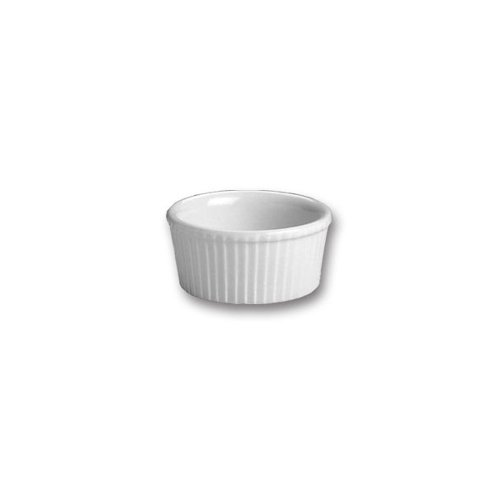 Hall China 834-WH White 2.75 Oz. Fluted Ramekin - - Ramekins Hall China