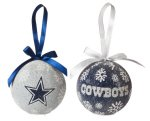 Team Sports America NFL Licensed LED Light-up Ornament Set of 2 (Dallas Cowboys) -