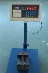 balanza bascula de plataforma hasta 300 kg con impresora de ticket