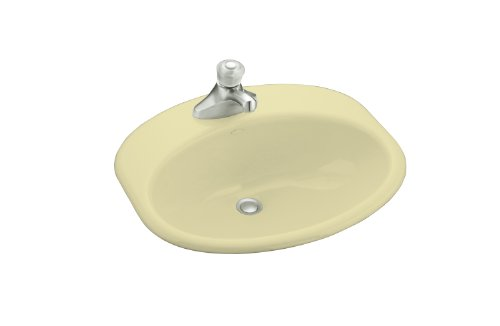 KOHLER K-2929-4-Y2 Providence Self-Rimming Bathroom Sink with 4