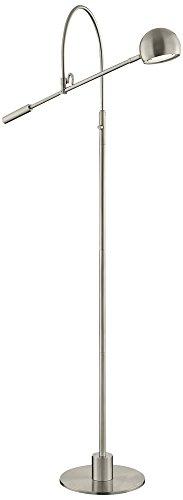 Lite Source Randall Brushed Nickel LED Floor (Lite Source Chrome Adjustable Floor Lamp)