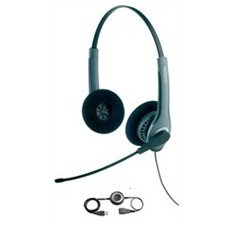 Jabra GN2025 Duo Bundle Lync Optimized Corded Headset for Deskphone, Softphone or mobile phone with LINK 280