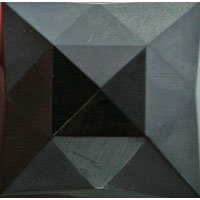 Stained Glass Jewels - 25mm Square Faceted - Black