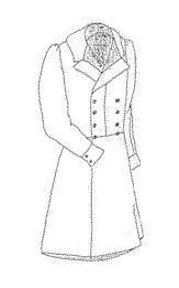 Men's Vintage Reproduction Sewing Patterns 1840s Double Breasted Frock Coat Pattern - Large (46-50) $15.00 AT vintagedancer.com