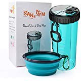 Dog Water Bottle with Bowl SANGYM Travel