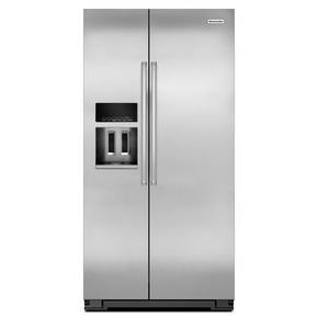 KitchenAid® 22.7 Cu. Ft. Counter Depth Side-by-Side Refrigerator with Exterior Ice and Water