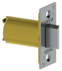 Hager 3945 Spring Latch Sq Corner w/2-3/8 Backset for the 3400 Series Latch Satin SS 32D by Hager