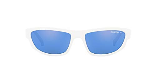 Arnette Sunglasses White - Arnette  Lost Boy, Post Malone Exclusive Collection, Unisex Rectangular Polarized Sunglasses White Frame/Blue Lens 56 MM
