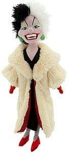 Disney 101 Dalmatians Villain Plush CRUELLA DE VIL Doll -- 21'' H -