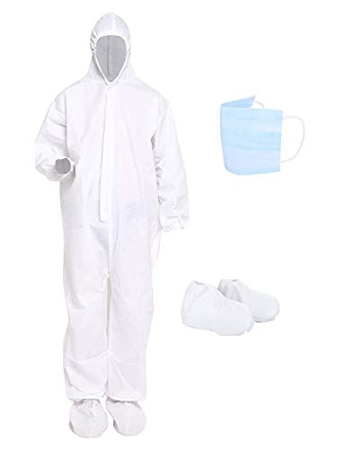FIGMENT-90-GSM-Fabric-Non-Suffocating-Non-Water-Permeable-for-Travelling-Reusable-Disposable-Non-Woven-Polypropylene-PPE-Safety-Kit-for-Full-Body-Protection-white-90-Gsm-kit-only