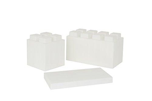 EverBlock Modular Building Blocks Combo Pack, Translucent, 26 Block