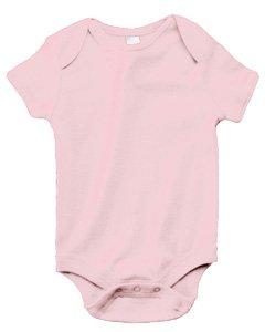 Bella + Canvas Infants'Short-Sleeve Baby Rib One-Piece - Pink - 18-24MOS