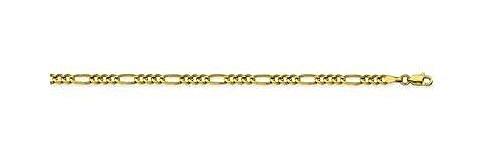 14kt Yellow Gold Figaro Chain Bracelet 3.20mm 14kt Gold Figaro Chain Bracelet