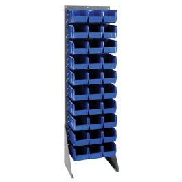 (QSS-1866HCO -Conductive Hanging Bin System - Single Sided Louvered Panel Rack - Conductive Hanging Rail and Louvered Panel Systems, Quantum Storage Systems - Each)