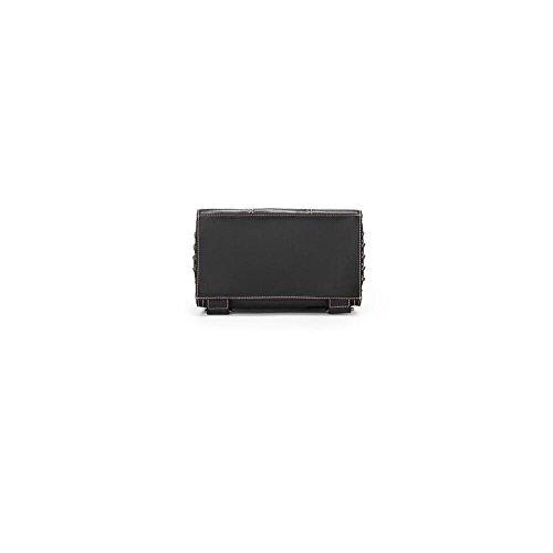 Neue, Weiches Leder Cowskin Rivet Tasche, Kleinen Rucksack, 24 * 12,5 * 29Cm,Farbe Schwarz Klassisches Schwarz