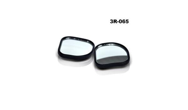 Karen Deals Black Blind Spot Mirror 1.75 Fan Shape Universal for all Cars Trucks /& Motorcycles Convex