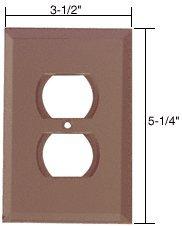 Duplex Plug Glass Mirror Plate - C.R. LAURENCE GMP2B CRL Bronze Duplex Plug Glass Mirror Plate