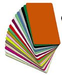 PVC-Cards Blank Metallic Vinyl Card PVC-CC-GOLD