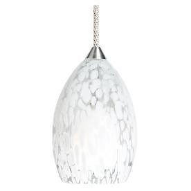 Tiella Vela White Glass Pendant Kit Model # 800PND1VWN